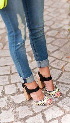 Chunky Heels. Love this