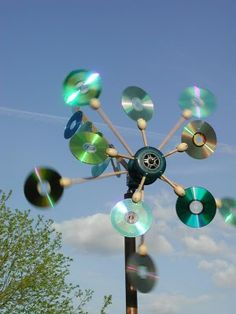 This may be a wind generator or simply an abstract sculpture. http://netzeroguide.com/wind-generator-motor.html