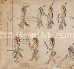 Detail of ledger drawing (Sioux), c. 1880, Heard Museum, Phoenix, Arizona (IAC481)