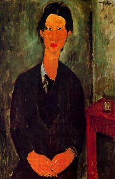 'Portrait von Chaim Soutine', öl auf leinwand von Amedeo Modigliani (1884-1920…                                                                                                                                                                                 Mehr