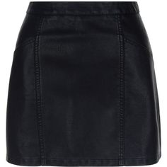 New Look Petite Black Leather-Look Skirt (105 RON) ❤ liked on Polyvore featuring skirts, saias, black, imitation leather skirt, vegan leather skirt, fake leather skirt, faux leather skirt and petite skirts