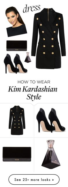 """""""Untitled #601"""" by avazova-aida on Polyvore featuring Balmain and Gianvito Rossi"""