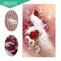 Meian,Special Shaped,Diamond Embroidery,China,Animal,Peacock,5D,Diamond Painting,Cross Stitch,3D,Diamond Mosaic,Decoration