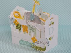 Stampin Up Baby Crib by Kristi @ www.stampingwithkristi.com