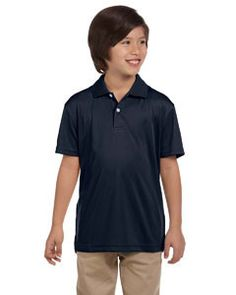 Harriton Youth Double Mesh Sport Shirt M353Y NAVY