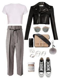 """Untitled #139"" by manerefortis ❤ liked on Polyvore featuring 3.1 Phillip Lim, Converse, Yves Saint Laurent, Christian Dior, French Girl, Forever 21, Native Union and Helen Moore"