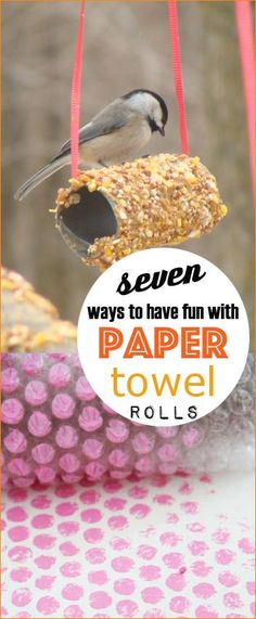7 Ways to have Fun with Paper Towel Rolls.  Arts and Crafts using paper towel rolls and recycled toilet paper rolls.