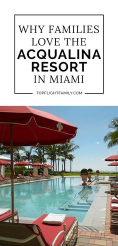 Acqualina Resort & Spa is a super kid friendly luxury seaside sanctuary located in pristine Sunny Isles Beach, between Miami and Ft. Road Trip Theme, Virgin Islands National Park, Travel Usa, Travel Tips, Travel Essentials, Miami Beach Hotels, Sunny Isles Beach, Road Trip With Kids, Toddler Travel