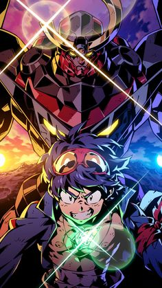 Mecha Anime, Anime Figures, Anime Characters, Lagann Gurren, Gurren Laggan, Sad Anime Girl, Image Fun, Anime Tattoos, Slayer Anime