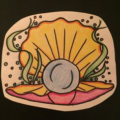 Sea shell tattoo design clam Tattoo Drawings, I Tattoo, Shell Tattoos, Clams, Sea Shells, Tattoo Designs, School, Art, Musica
