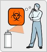 If you are sprayed with an unknown substance, stand and think about it instead of seeing a doctor.