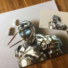 "Marcello Barenghi su Instagram: ""My portrait of Iron Man. Oil and acrylic on canvas. It took me 47 hours. Painting video: http://www.marcellobarenghi.com/2016/03/iron-man-portrait-oil-painting.html"""