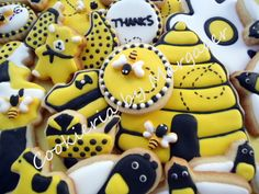 bee cookies,biscoito decorado, bolacha decorada