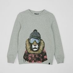 Animal Lion Sweatshirt. Pin-To-Win your Christmas wish list at Surfdome!