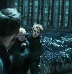 Finnick and Peeta in the new Mockingjay Part 2 TV spot.