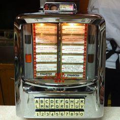Vintage jukebox counter selector