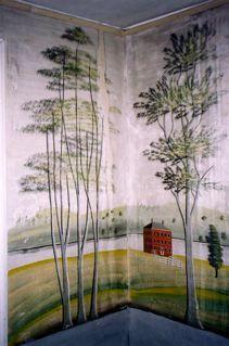 Original Rufus Porter Murals Painted c. 1830.
