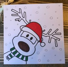 Christmas cards hand drawn 15 cards from SupergrimesE .- Christmas cards hand drawn 15 cards from SupergrimesEmporium …, drawn cards - Xmas Drawing, Christmas Cards Drawing, Cute Christmas Cards, Christmas Doodles, Card Drawing, Christmas Art, Handmade Christmas, Drawing Ideas, Christmas Images For Cards