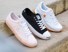 f5ce99ed5def Converse x Illegal Civ Jack Purcell Pro Ox Skate Shoes - Black Pink ...