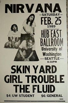 Nirvana - University of Washington Seattle WA, 1989