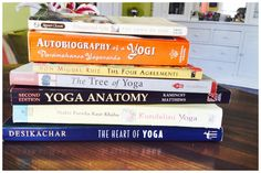 MY FIRST BOOK LIST! Per your request. We start with my 10 essentials and a little consideration for everyone who requested specific things. I hope I got you all covered for now. More to come- including my first attempt at an online Yoga Book club- starting April 1st. No foolin'! Love,  A