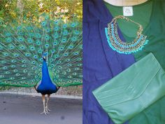 verdementa - fashion from my curvy point of view: #Outfit | con i colori del pavone #peacock #green and #blu #fashion