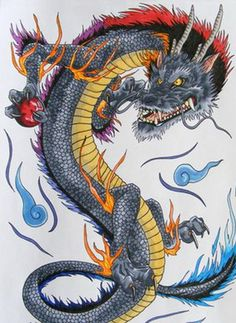 Dragon Japanese Tattoo Designs ~ http://tattooeve.com/fascinating-tattoo/ Tattoo Design