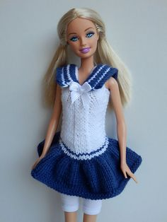 Sailor Moon for Barbie #free #knitting #pattern by stickatillbarbie.se