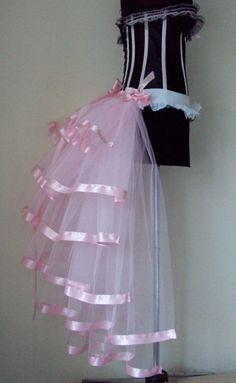 Baby Pink  Burlesque Bridal Bustle Belt size XS by thetutustoreuk, $50.00