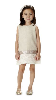 ss15: Understated colors and a playful shape gives Andy & Evan's dress drama. www.andyandevankids.com