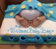 Boy Babyshower cake