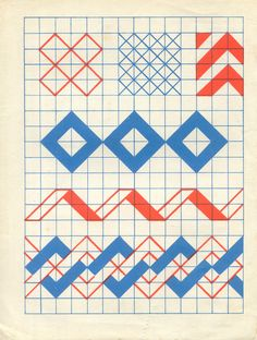 Geometric #patterns, looks like a basic study of shapes on graphing paper! Best way to start geometric studies