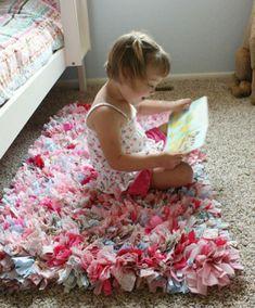 como hacer una alfombra facil