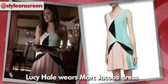 Where did Lucy Hale/Aria get her colour block swing dress from on Pretty Little Liars 12/08/14? - Style on Screen