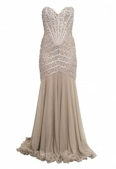 Forever Unique Sparkle Dress in Nude