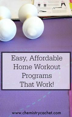 Easy, Affordable Home Workout Programs that work and perfect for anyone with physical limitations