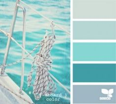 possible teal colour palette for accents - I was thinking nautical!