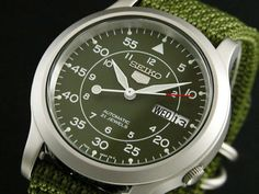 SEIKO-5-AUTOMATIC-MILITARY-AVIATOR-GREEN-FACE-STRAP-SNK805K2