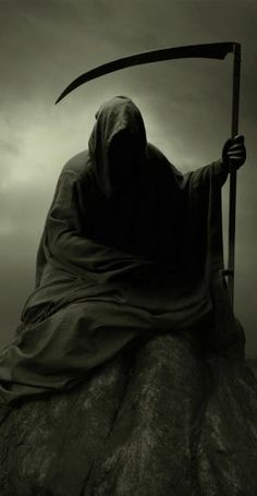 Reaper let's go a reaping✌ Death Reaper, Grim Reaper Art, Grim Reaper Tattoo, Don't Fear The Reaper, Beautiful Dark Art, Satanic Art, Skull Artwork