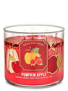 Two favorite fall fragrance in one candle? Dreams do come true. Topped with a decorative lid.