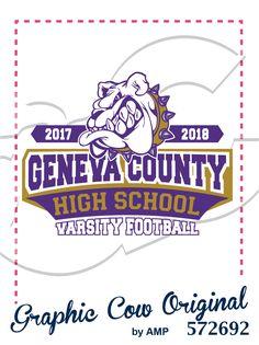 High School Varsity Football Bulldog #grafcow