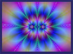 Rainbow Flowers Fractal by trashydragon on DeviantArt