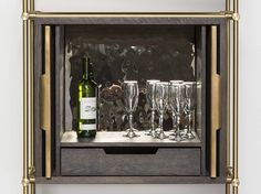 Amuneal: Magnetic Shielding & Custom Fabrication | Collector's Shelving Wine Storage Unit