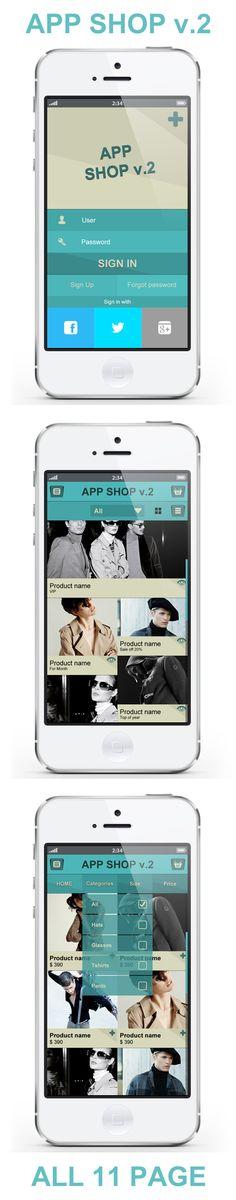 App Shopping V.2 - E Commerce UI by Minh NVH, via Behance