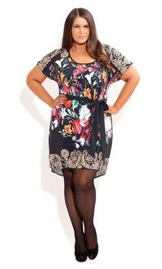 City Chic - STILL LIFE TUNIC - Women's plus size fashion