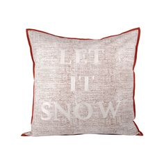 Let It Snow Pillow 24X24-Inch Cafe,Snow