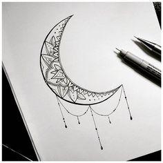 moon tattoo art drawing on Instagram #MoonTattooIdeas