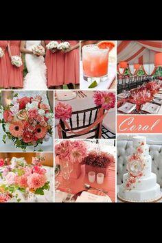 Coral wedding ideas, I love love love!