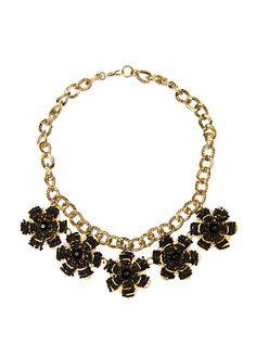 TOUCH - Halskette mit Blumenverzierung