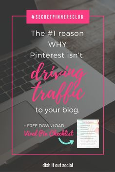 If your a new blogger and you can;t seem to figure out why Pinterest isn't driving traffic to your blog then you need to read this!